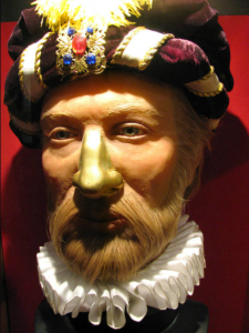 A potrait of Tycho Brahe depicting his gold nose